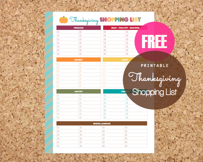 Clean Life and Home November 2014 – Shopping List Format