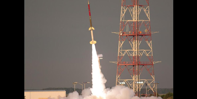 Terrier-Improved Orion suborbital sounding rocket launches from Wallops Flight Facility on June 25, 2015. Photo Credit: NASA Wallops Optics Lab