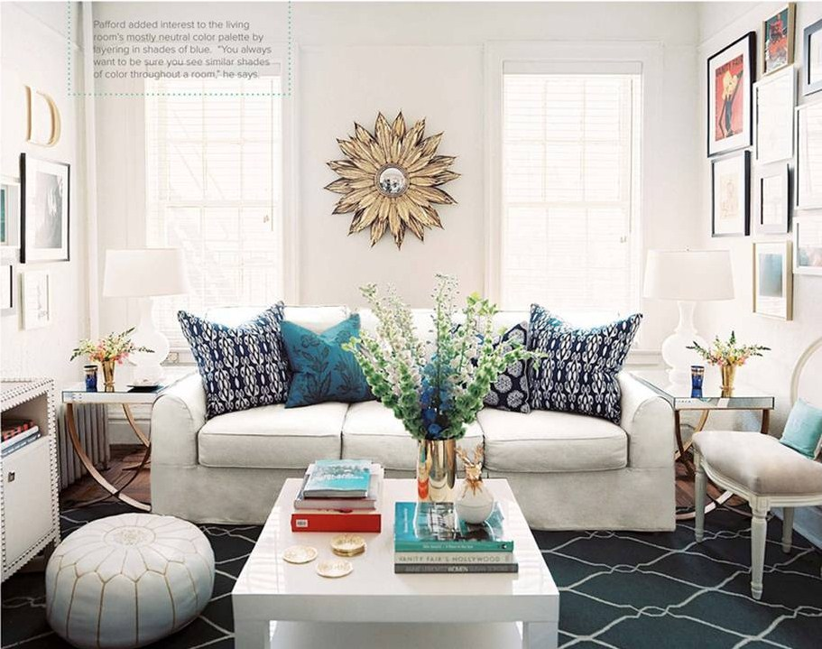 Make It Your Own: Neutral Living Room With Pops Of Blue Part 28