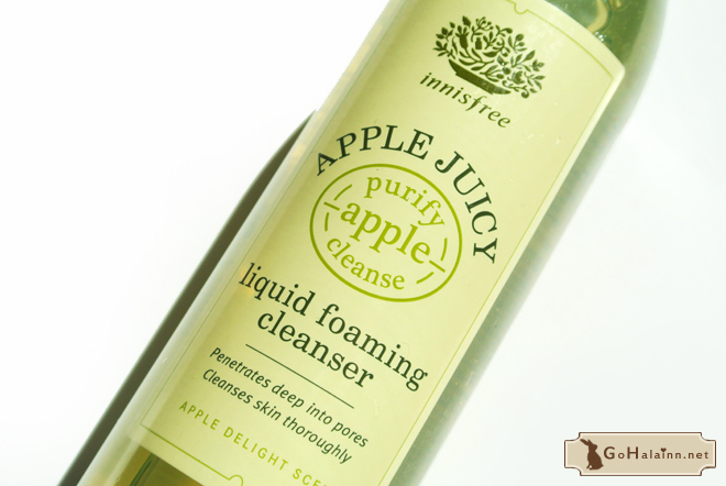 Innisfree Apple Juicy Liquid Foaming Cleanser Review