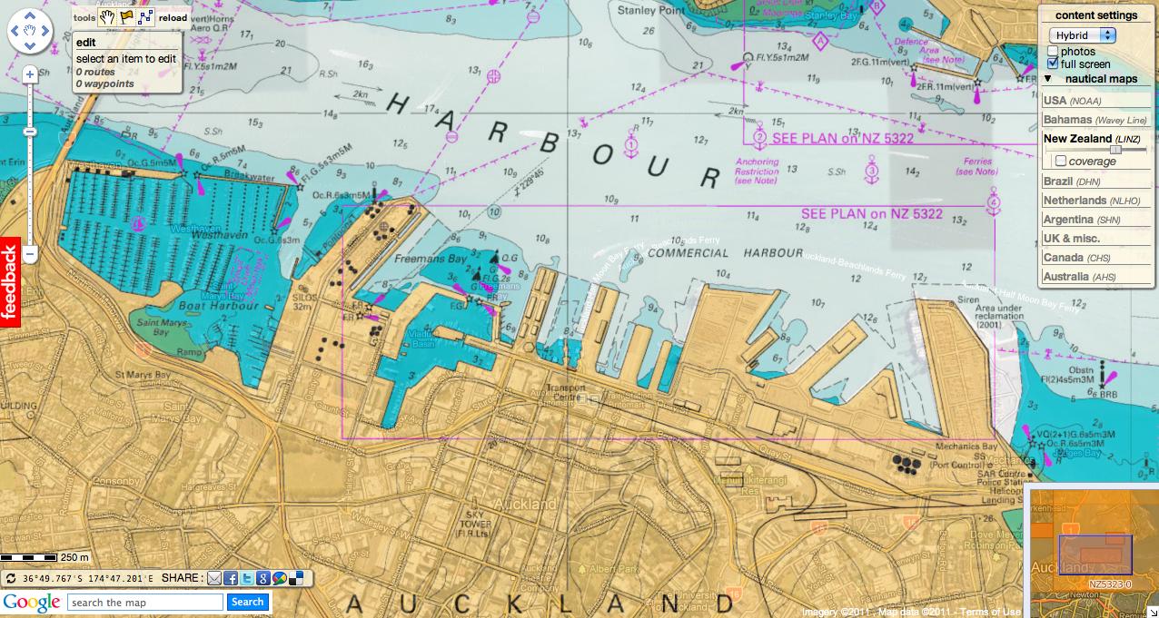 Marine Chart At Toronto Island