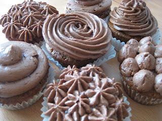 cupcakes de café con buttercream de moka