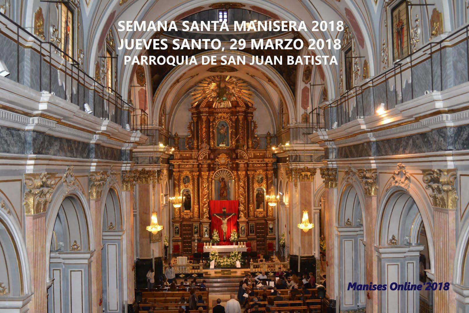 29.03.18 SEMANA SANTA MANISERA: ACTOS LITÚRGICOS CON EL LAVATORIO DE PIES