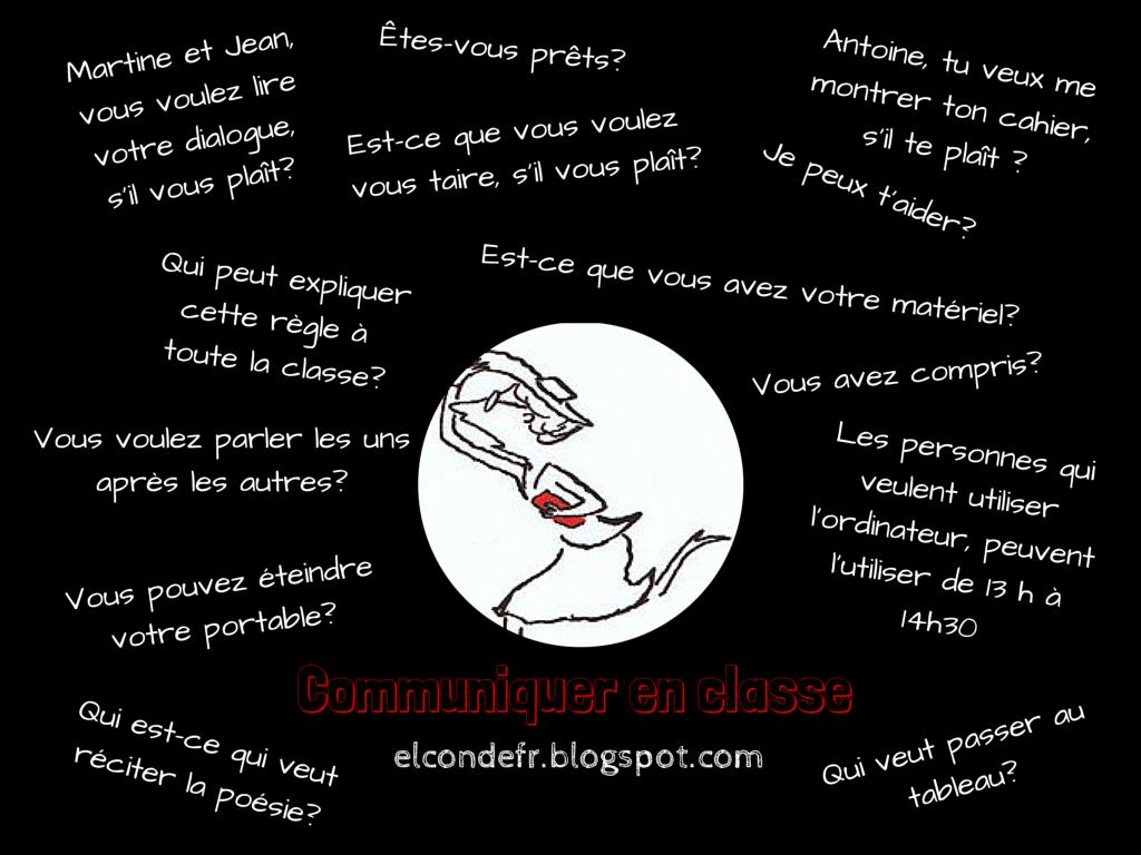 Populaire El Conde. fr: Communiquer en classe de français LU62