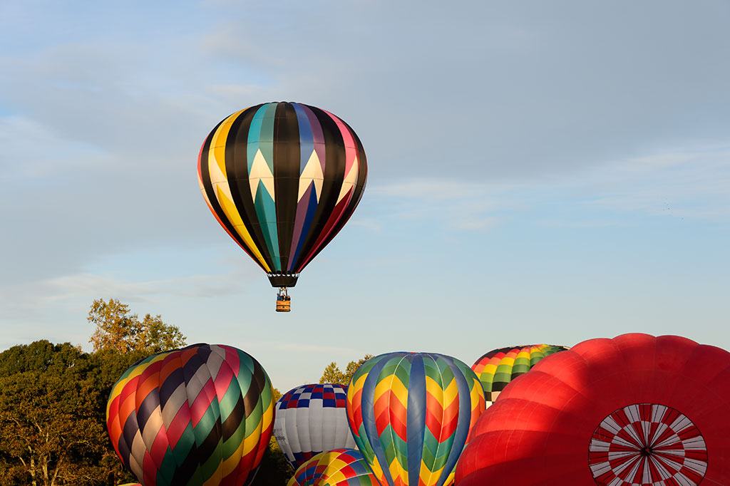 Ty Parson and the Up Balloon at Carolina BalloonFest