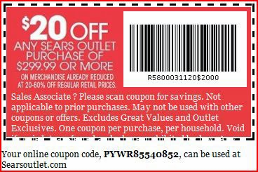 Sears in store coupons 2019