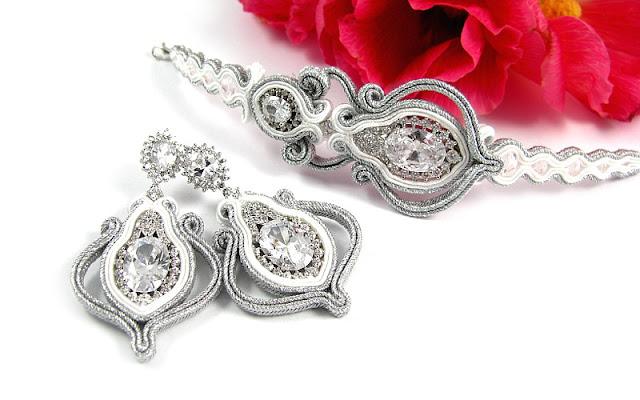 biżuteria ślubna sutasz śnieżnobiała