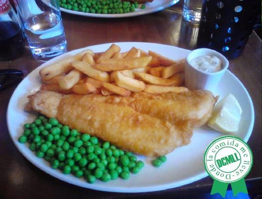 receta fish & chips, pescado con patatas inglés, british fish and chips recipe