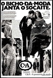 C&A store;  moda anos 70; propaganda anos 70; história da década de 70; reclames anos 70; brazil in the 70s; Oswaldo Hernandez