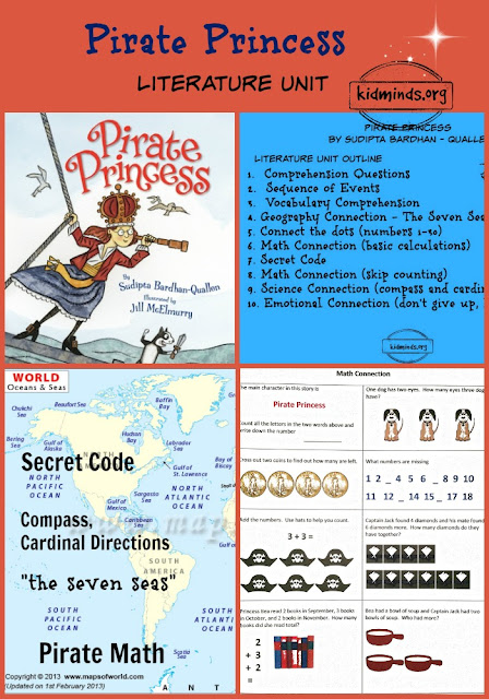 "science, math, geography, emotions, ""the seven seas,"" compass, cardinal directions, treasure hunt, connect-the-dot"