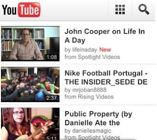 YouTube iphone app mobile