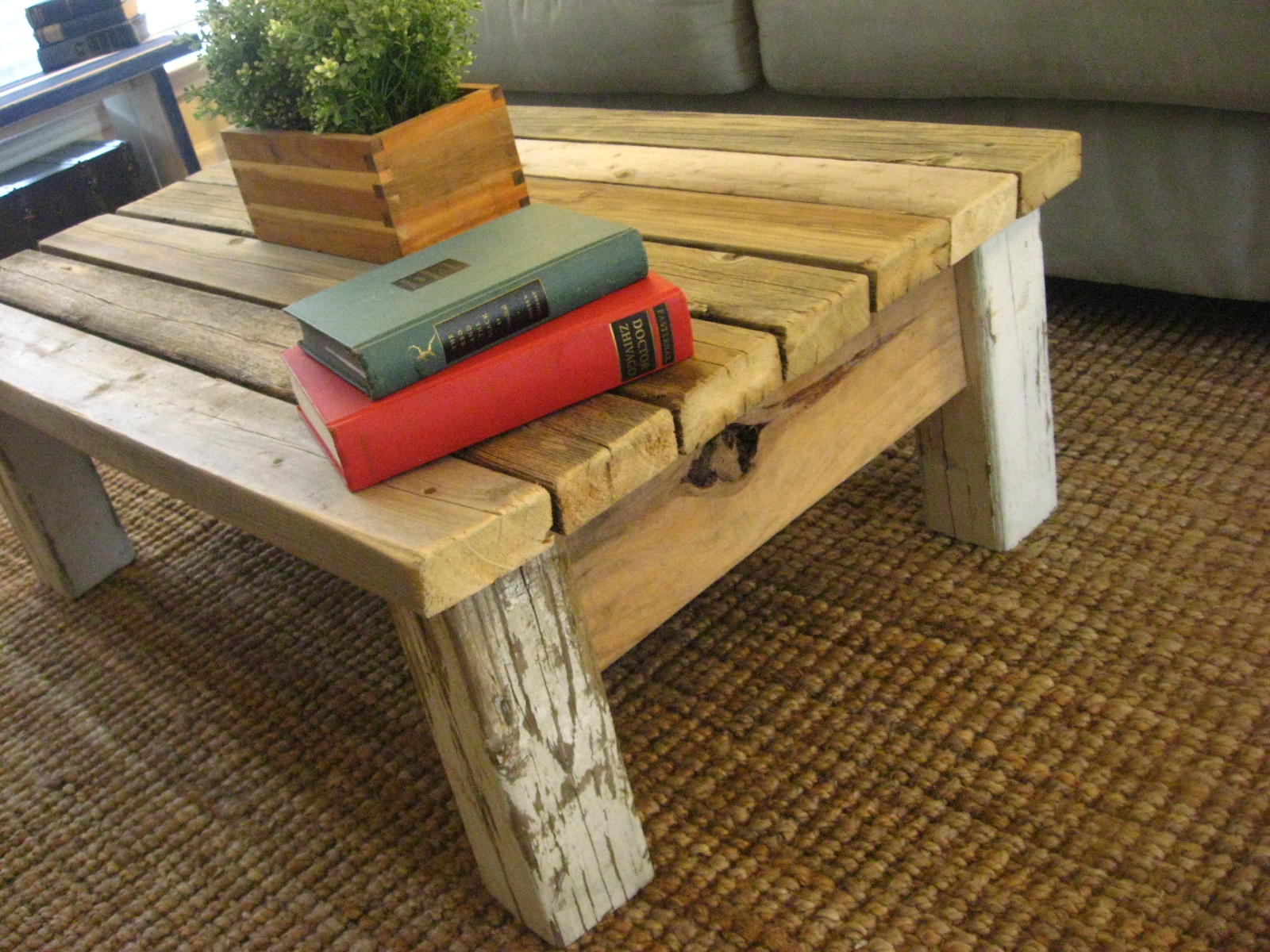 Things I Build or Repurpose thick wood rustic coffee table from