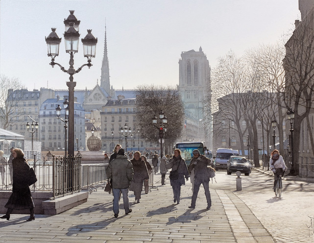 25-Paris-Thierry-Duval-Snippets-of Real-Life-in Watercolor-Paintings-www-designstack-co