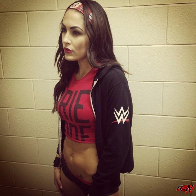 Brie Bella Ready for Her WWE Live Event Match Sunday Night.