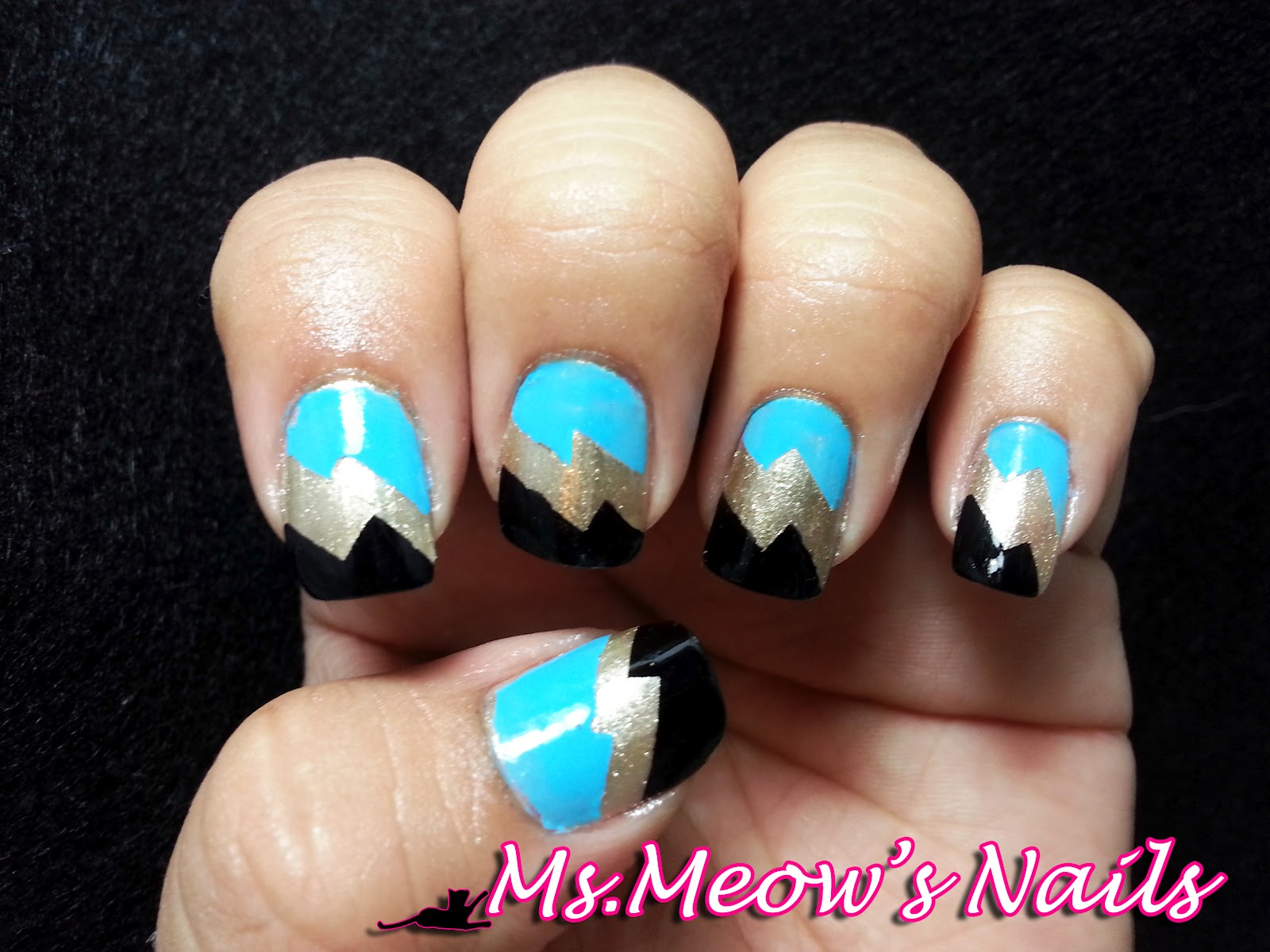 Ms.Meow\'s Nails: Lightning Bolt Nails