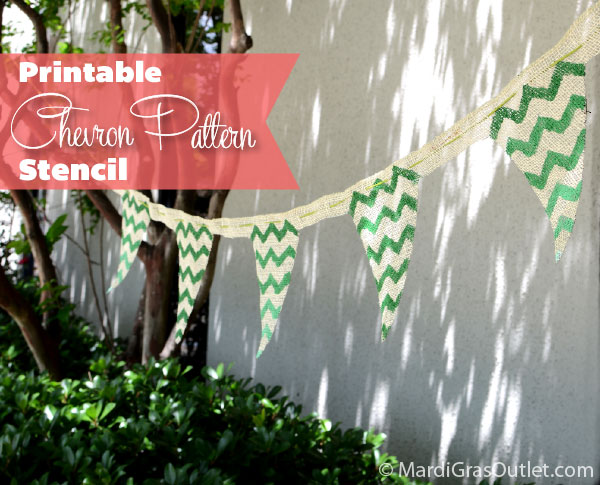 Printable Chevron Pattern Stencil and Ombre Tutorial by MardiGrasOutlet.com