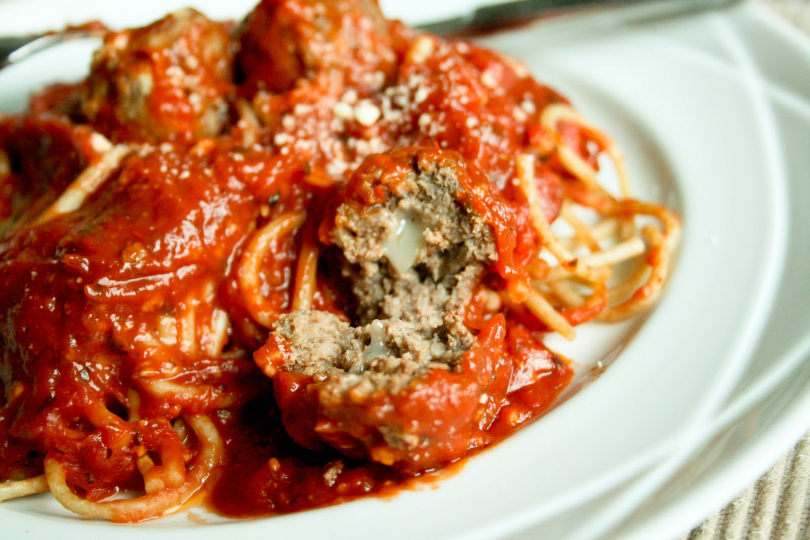 Cheese-Stuffed Meatballs - Food & Whine
