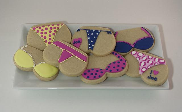 Bachelorette lingerie cookies