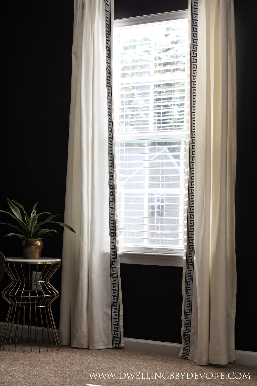 Dwellings By Devore Greek Key Trimmed Curtains