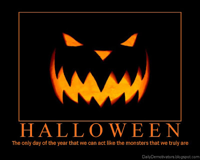 Halloween Monsters Demotivational Poster