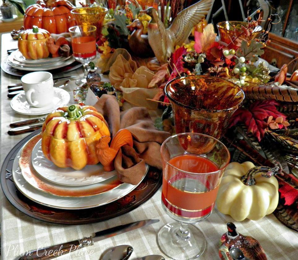 Plumcreek place - Duck, hunt, fall, Thanksgiving tablescape
