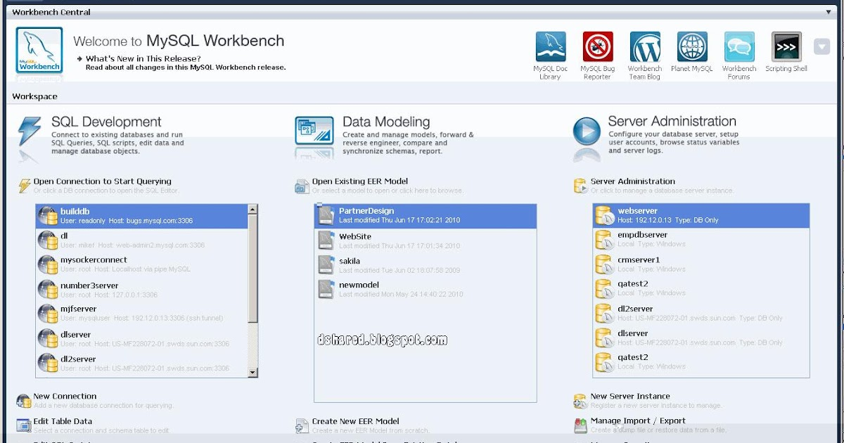 daniel share: MySQL Workbench 5.2.45 : Rancang, Desain
