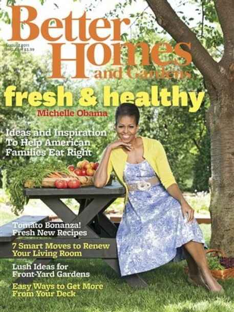About michelle obama michelle obama on cover of better homes garden 7 better homes and gardens