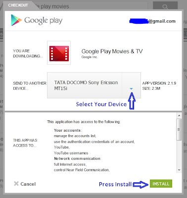 Install Android App From Play Web Store