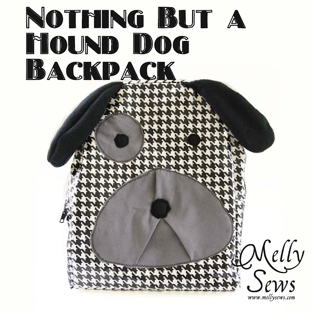 sewing a hound dog backpack