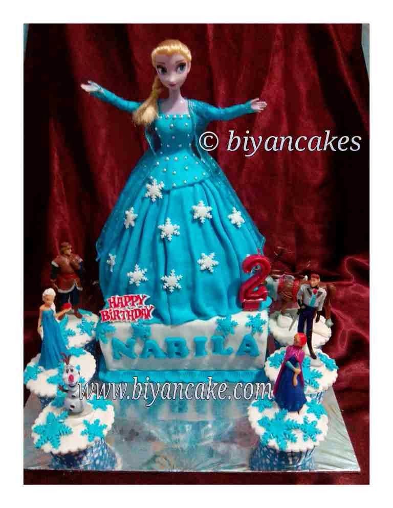 Barbie cake frozen disney ~ Nabila