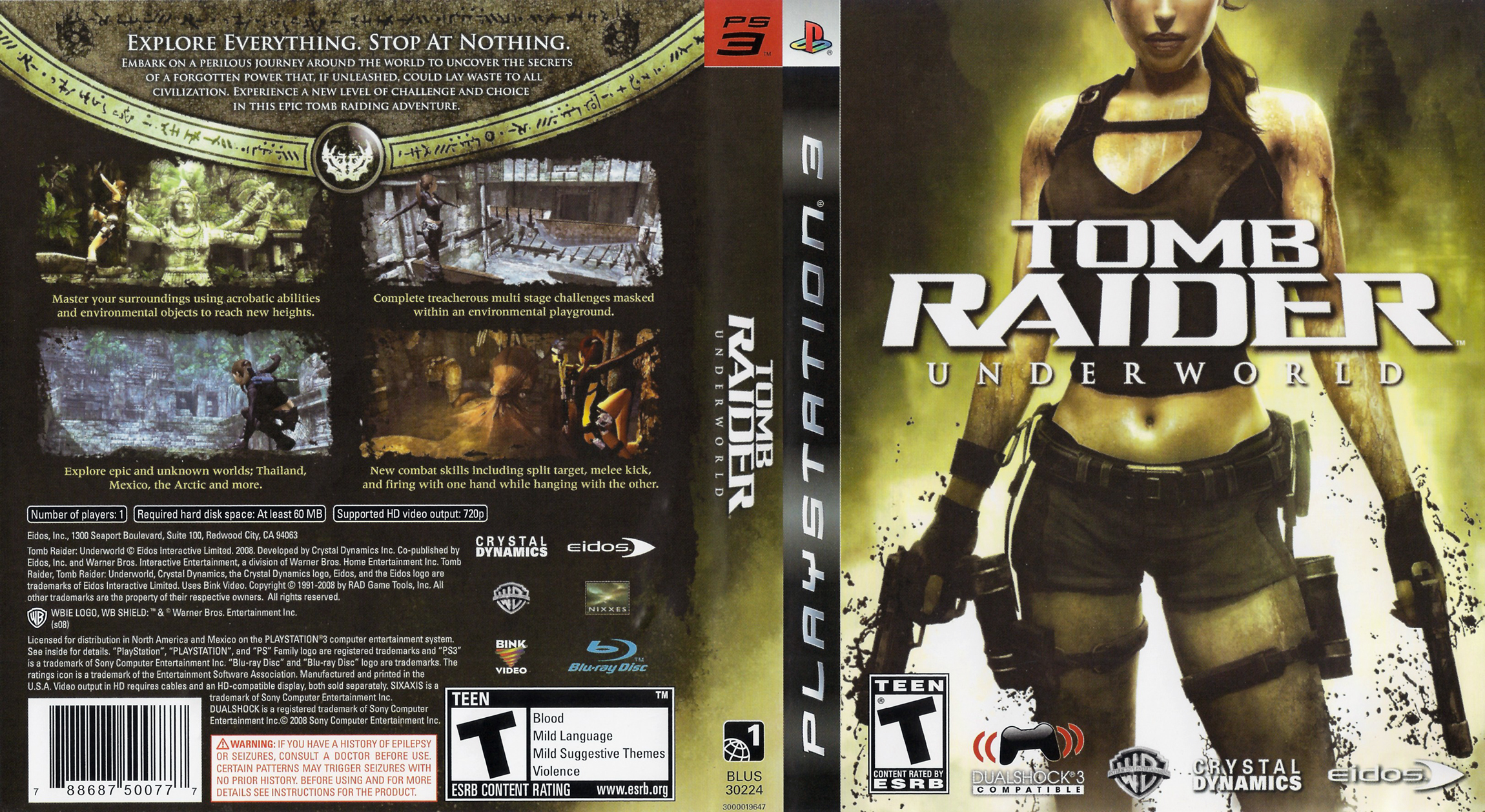 Capa Tomb Raider Underworld PS3