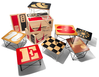 House Industries and Herman Miller limited edition series of 80 Eames wire-base tables.