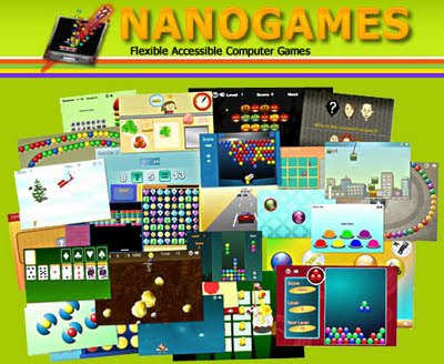 Image of Nanogames compilation of on-line accessible games.
