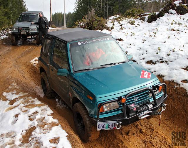 My Suzuki Sidekick stuck in the ruts