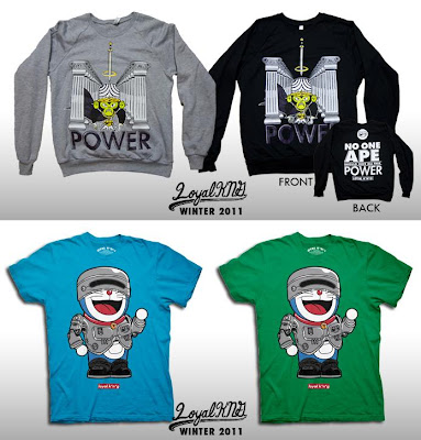"Loyal K.N.G. Winter 2011 T-Shirt Collection - ""Mojo Power"" & ""Robomon"" T-Shirts"