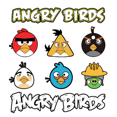 angry bird en vector