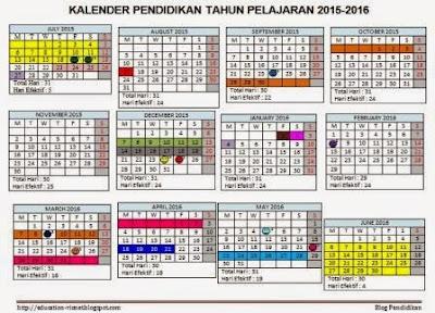 Download Kalender Pendidikan Tahun Pelajaran 2015/2016