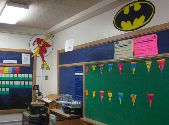 Super Heroes Decor For Classroom ~ Superheroes superkids themed classrooms clutter free