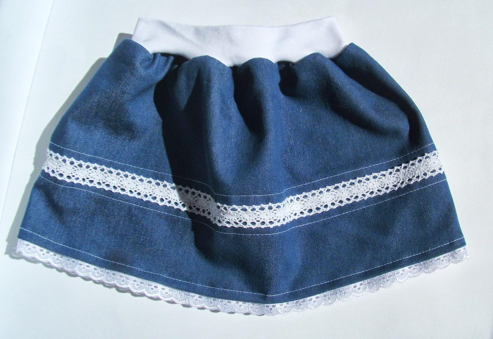 Как сшить джинсовую юбку для девочки из старых джинсов 49