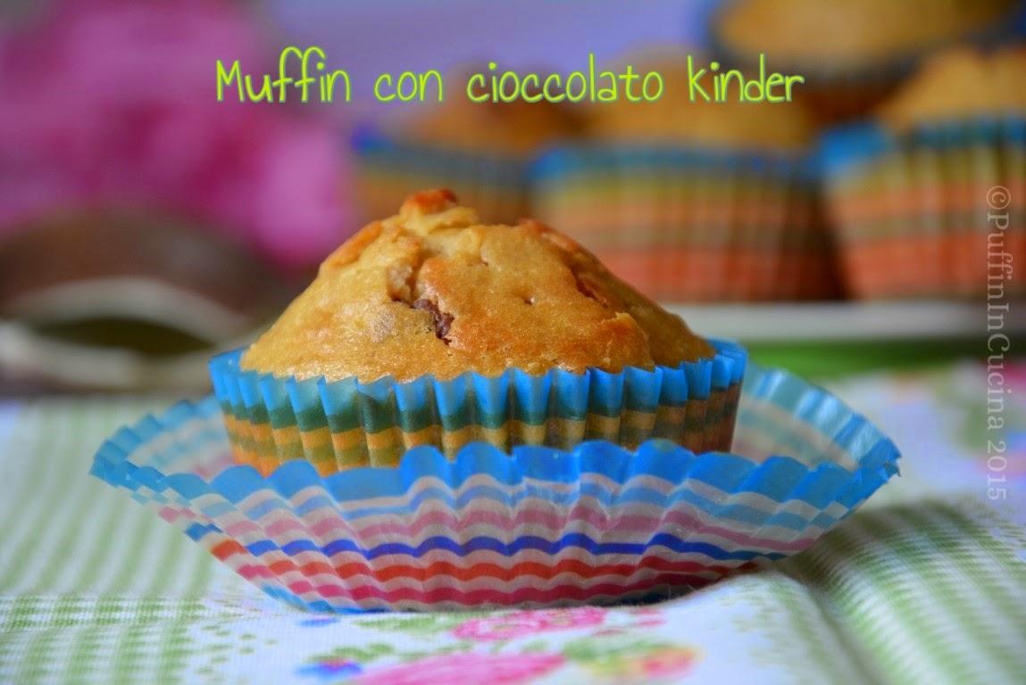 muffin con cioccolato kinder un'ottima idea semplice e veloce per riciclare il cioccolato dell'uovo di pasqua