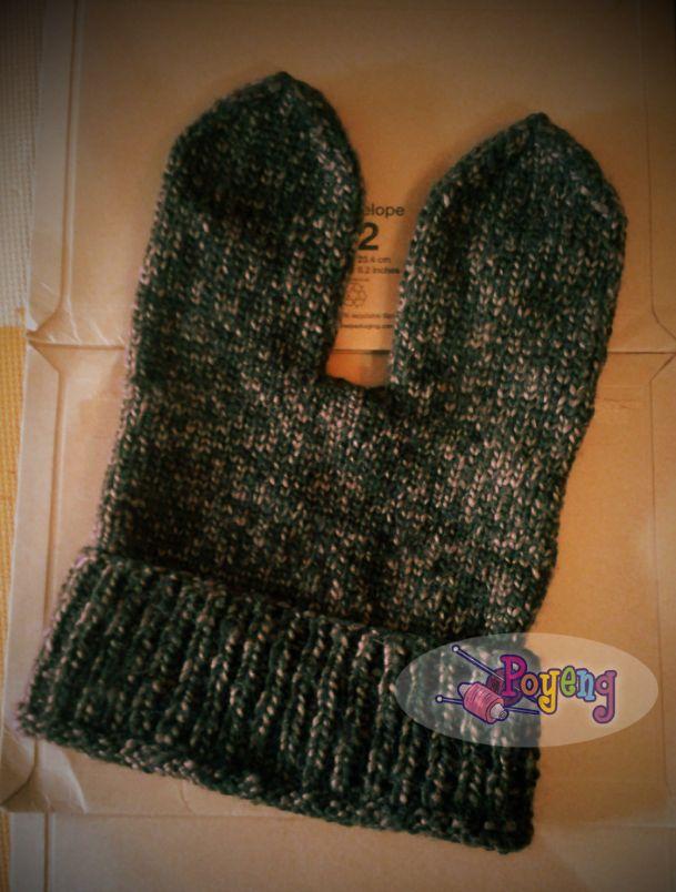 Knitting Pattern Rabbit Ears : Ajeng belajar merajut rajut free knitting pattern bunny hat