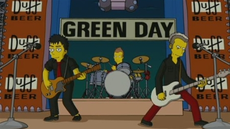 Green Day The Simpsons Movie 2007 animatedfilmreviews.filminspector.com