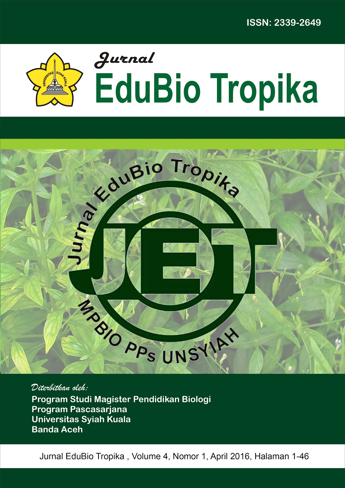 Jurnal EduBio Tropika