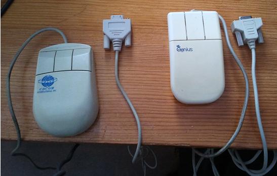 Ratones de bola por puerto serie y 3 botones