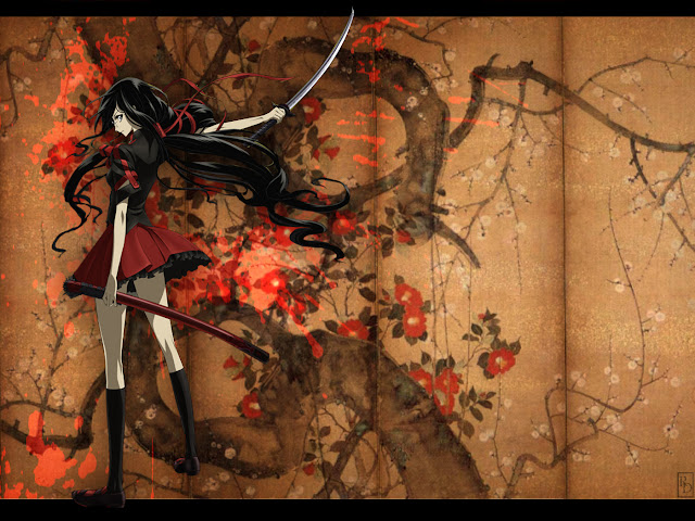 Blood C | Wallpaper | Samurai Sword | Girl