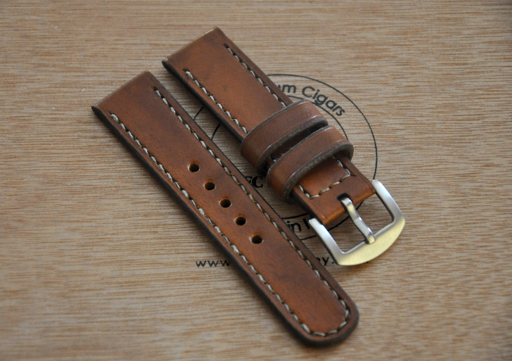 Centaurstraps handmade leather watch straps light brown 20mm leather watch strap for Leather strap watches