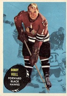 bobby hull chicago black hawks topps hockey card