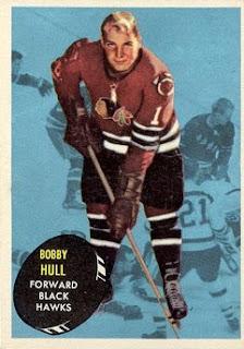bobby hull chicago black hawks topps hockey card