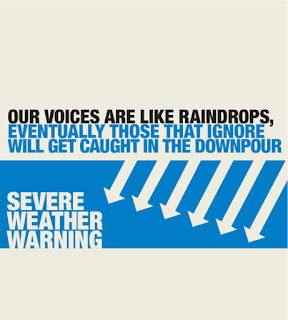 Voices like rain - create a downpour