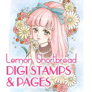Lemon Shortbread Digi Stamps